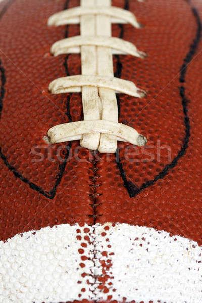 Fútbol primer plano americano deporte pelota cuero Foto stock © aremafoto