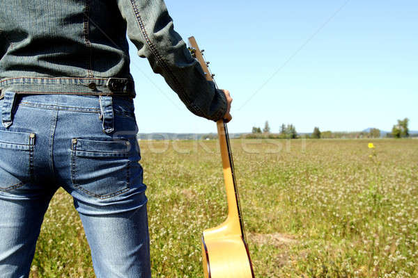 Guitar player Stock photo © aremafoto