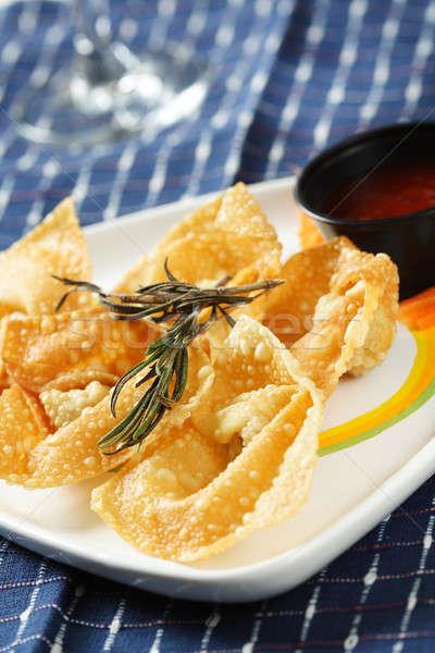 Fried chinese dumplings Stock photo © aremafoto