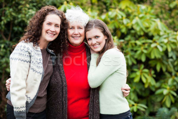Grandmother, daughter and granddaughter Stock photo © aremafoto