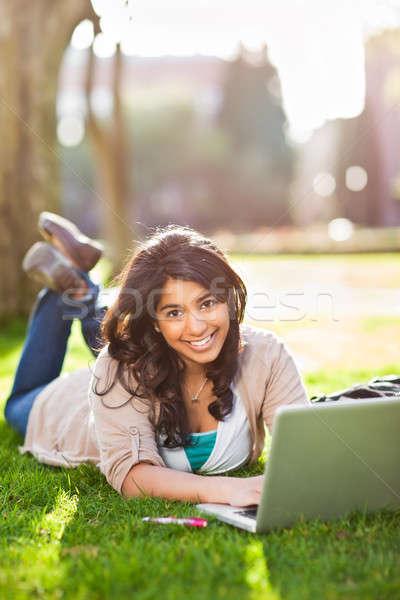 Asian student on campus Stock photo © aremafoto
