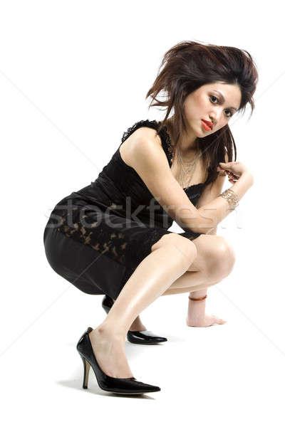 Gyönyörű nő divat lövés gyönyörű fiatal ázsiai Stock fotó © aremafoto