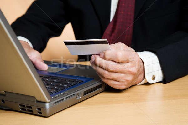 Compras on-line tiro empresário compras on-line negócio Foto stock © aremafoto