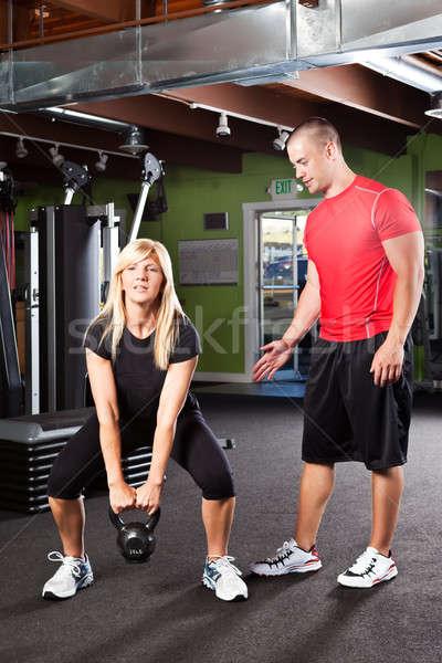 Personale formazione shot maschio personal trainer donna Foto d'archivio © aremafoto