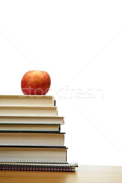 Alma könyvek izolált lövés felső köteg Stock fotó © aremafoto