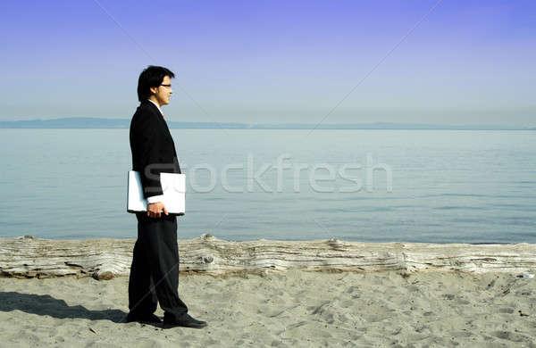 Businessman on the go Stock photo © aremafoto