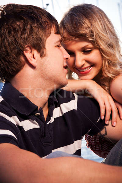 Romantic couple in love Stock photo © aremafoto