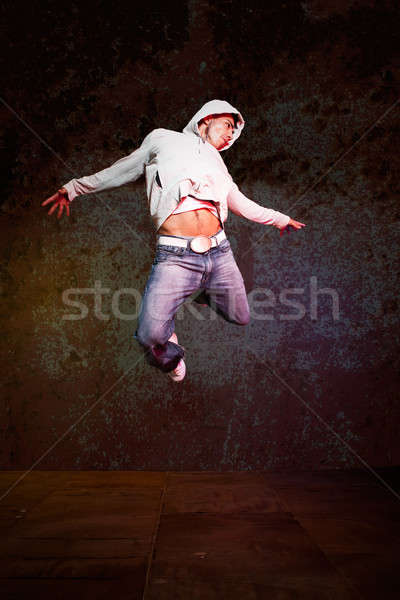 Hispanic male hip-hop dancing Stock photo © aremafoto