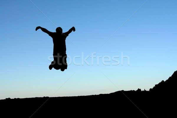 Jumping man Stock photo © aremafoto