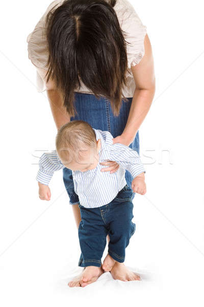 Baby learning to walk Stock photo © aremafoto