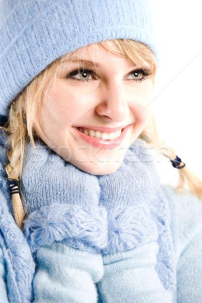 Beautiful caucasian winter girl Stock photo © aremafoto