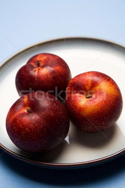 Tiro saúde vermelho prato agricultura doce Foto stock © aremafoto