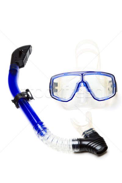 şnorkel yalıtılmış atış mavi şnorkel Stok fotoğraf © aremafoto