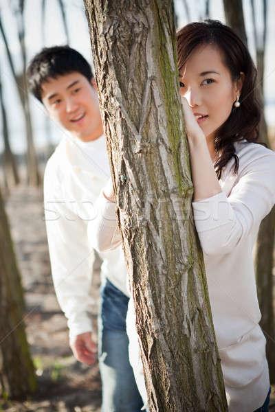Asian couple Stock photo © aremafoto