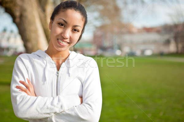 Woman exercise Stock photo © aremafoto