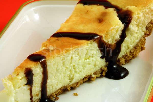 Sernik czekolady żywności ser deser słodkie Zdjęcia stock © aremafoto