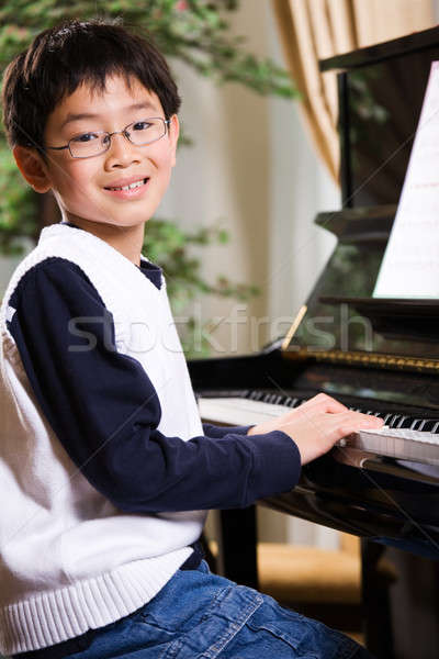 Playing piano Stock photo © aremafoto