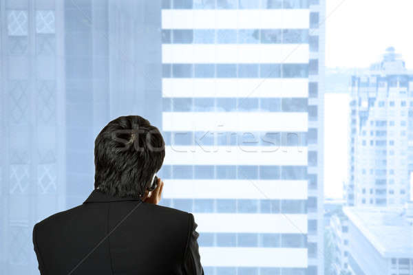 Businessman on the phone Stock photo © aremafoto