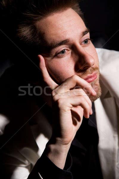 Stock fotó: Gondolkodik · üzletember · portré · lezser · kaukázusi · üzlet