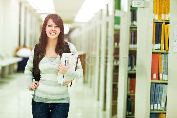 Stockfoto: Halfbloed · student · portret · campus · schoonheid
