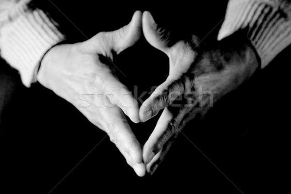 Senior hands Stock photo © aremafoto