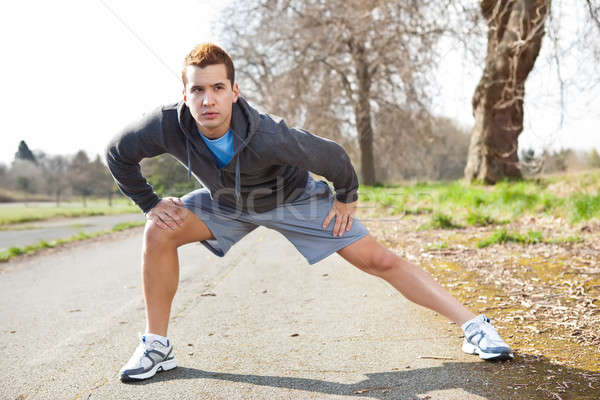 Halfbloed man shot outdoor sport Stockfoto © aremafoto