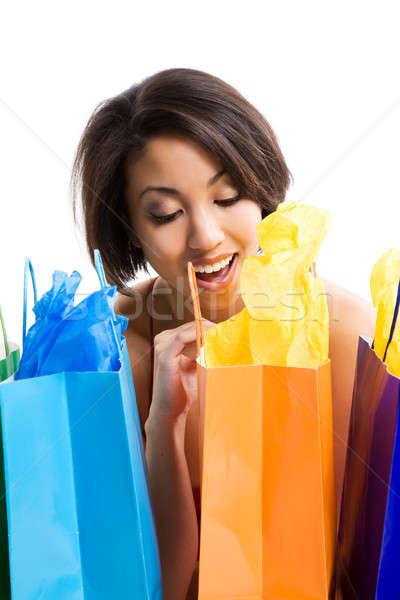 Shopping woman Stock photo © aremafoto
