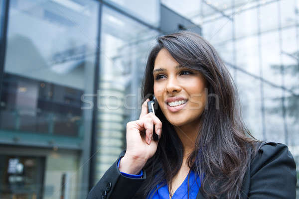 Indian businesswoman on the phone Stock photo © aremafoto