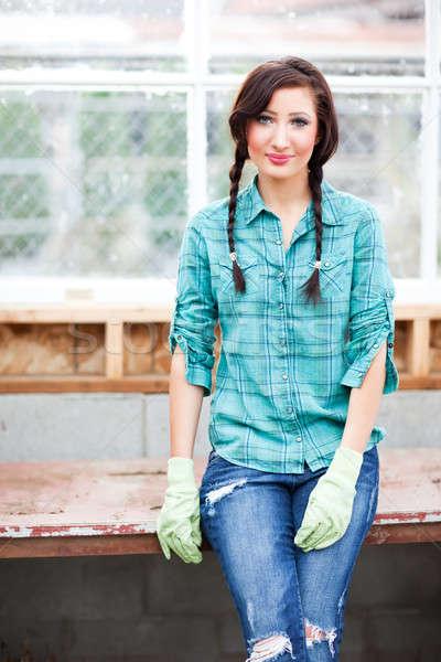 Gardening woman Stock photo © aremafoto