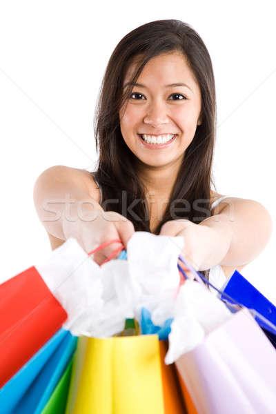 Shopping asian girl Stock photo © aremafoto