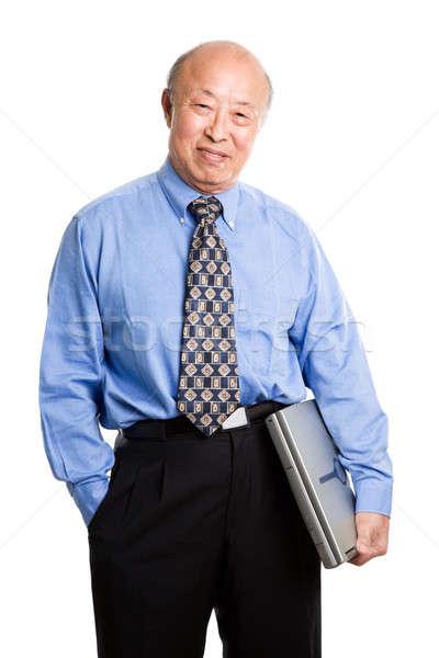 Supérieurs asian affaires portable affaires Photo stock © aremafoto