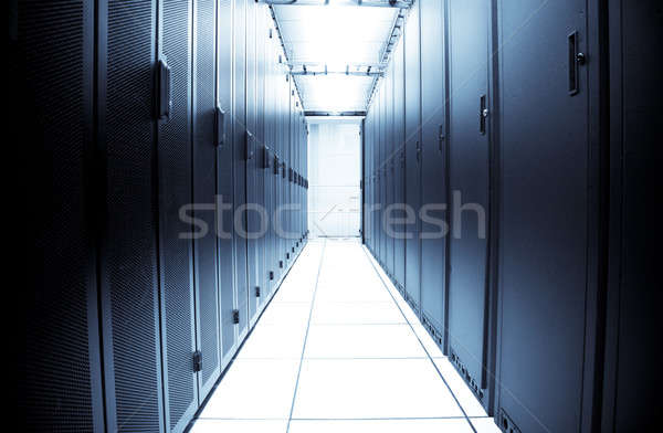 Computer data center interni shot blu business Foto d'archivio © aremafoto