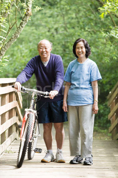 Mature asian couple Stock photo © aremafoto