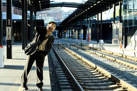 Waiting for the train Stock photo © aremafoto