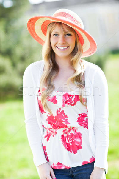 Beautiful Caucasian woman outdoor Stock photo © aremafoto