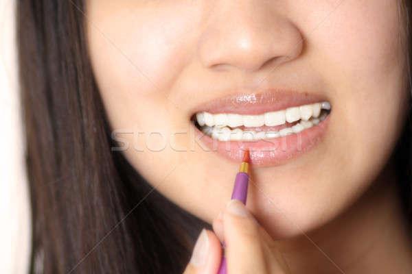 Trucco donna labbro occhi donne Foto d'archivio © aremafoto