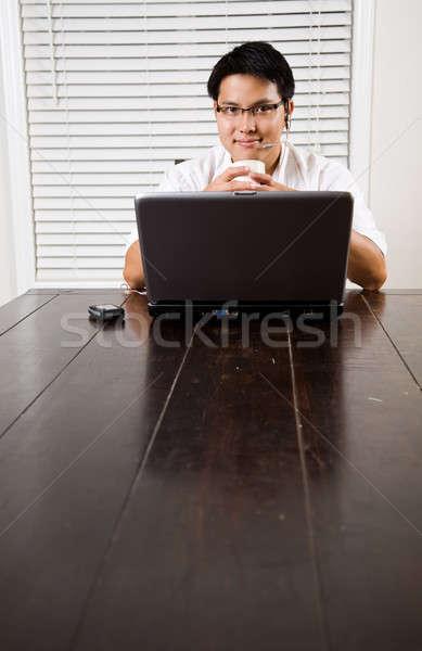 Working asian entrepreneur Stock photo © aremafoto