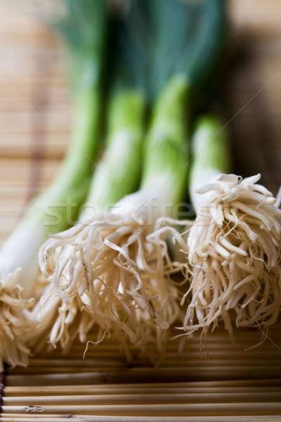 Spring onions Stock photo © aremafoto