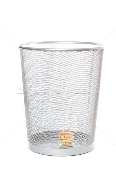 Papierkorb isoliert erschossen Papier Mülleimer Business Stock foto © aremafoto