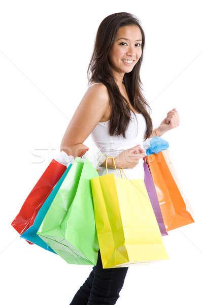 Asian girl shopping