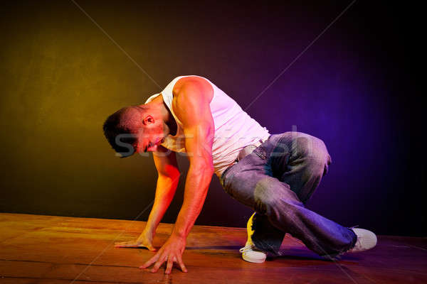 Hispanique Homme danse coup danse Photo stock © aremafoto