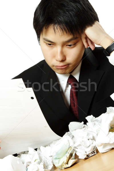 Stressed businessman Stock photo © aremafoto