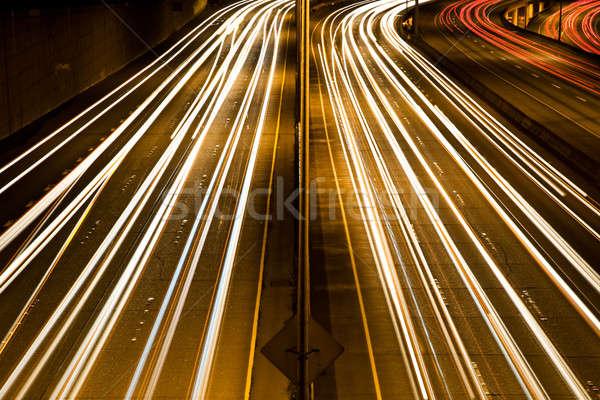 Tráfego hora do rush tempo exposição engarrafamento carros Foto stock © aremafoto