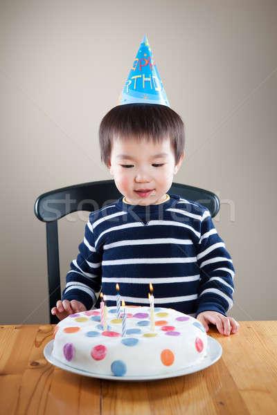 рождения мальчика портрет азиатских счастливым Сток-фото © aremafoto