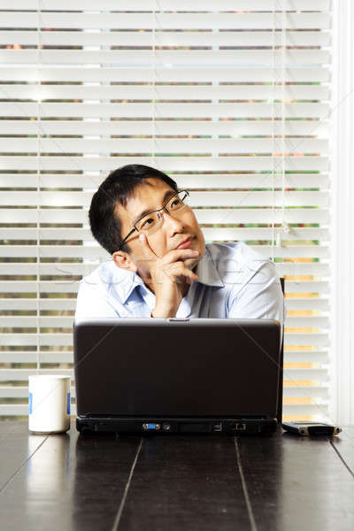 Thinking businessman Stock photo © aremafoto
