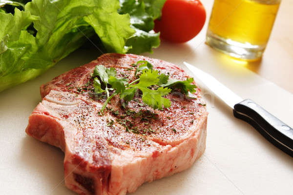 Ribeye steak Stock photo © aremafoto