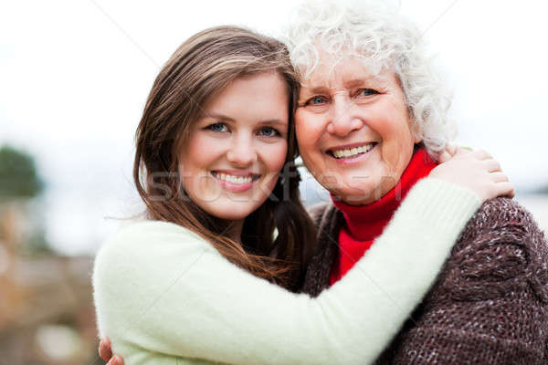 Grandmother and granddaughter Stock photo © aremafoto