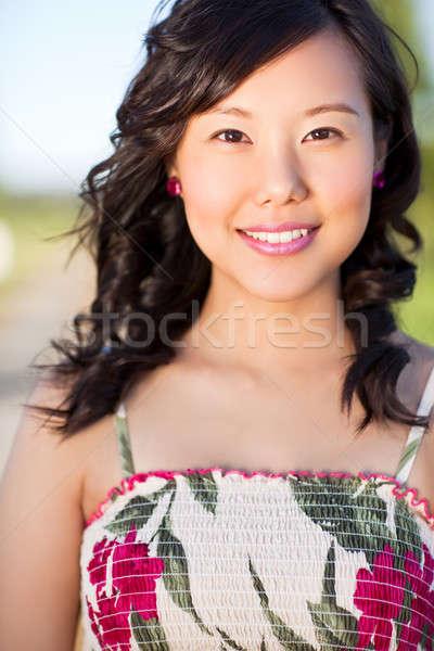 Belle asian femme extérieur fille Photo stock © aremafoto