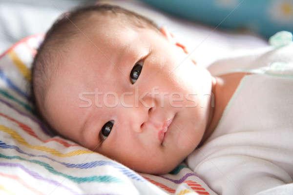 ストックフォト: かわいい · 赤ちゃん · 少年 · ショット · アジア · 幸せ