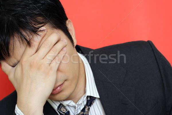 Stress imprenditore fuori business mano Foto d'archivio © aremafoto